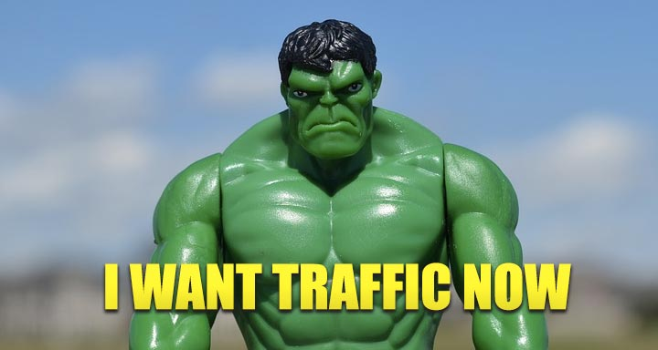 I want traffic now
